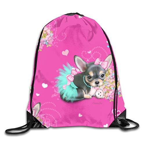 OMGiHome Chihuahuas Sunshine in Cool Circular Fitness Beam Backpack, Sports Backpack, School Bag