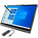 2021_Lenovo Yoga C940 2-in-1 Touchscreen Laptop, 14' FHD IPS Display, Intel 10th i7-1065G7, 8GB RAM, 512GB SSD, USB-C, Thunderbolt 3, FP Reader, Wi-Fi, Webcam, Mytrix Ethernet Hub, Win 10 w/Pen