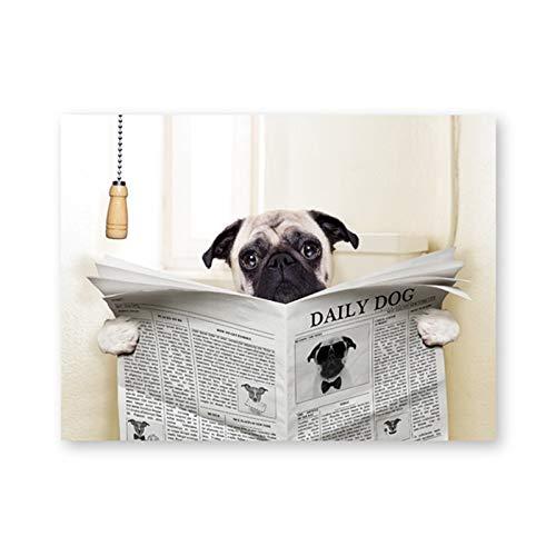 AQgyuh Puzzle 1000 Teile Hund lesen Zeitung Puzzle 1000 Teile Erwachsene Great Holiday Leisure , Interaktive Familienspiele50x75cm(20x30inch)