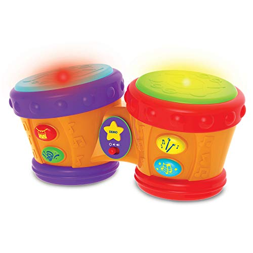 The Learning Journey Early Learning - Little Baby Bongo Drums - Electronic Musical Toddler Toys & Gifts for Boys & Girls Ages 12 Months & Up - Award Winning Musical Learning Toy, Multi