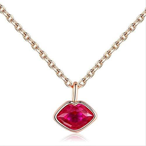 YOUZYHG co.,ltd Collar de Diosa Labios Rojos Creación de Cadena de tentación Proyecto Día de San Valentín Día de San Valentín Collar de lápiz Labial Regalo
