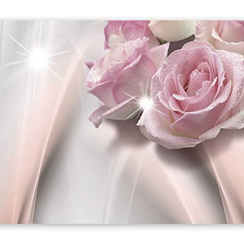 murando Papier peint intissé 350x256 cm Décoration Murale XXL Poster Tableaux Muraux Tapisserie Photo Trompe l'oeil Fleurs rose b-C-0109-a-a