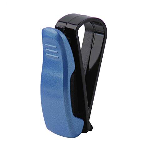 Clip Soporte de Gafas de Sol Visera para Auto Coche Vehículo Suv Azul