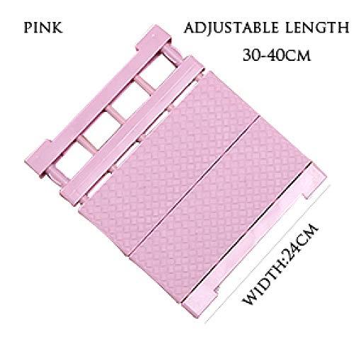 GSS 1PCS Wardrobe Rack Adjustable Closet Organizer Storage Shelf Kitchen Rack Space Saving Wardrobe Decorative Shelves Cabinet Holders D/Pink/S