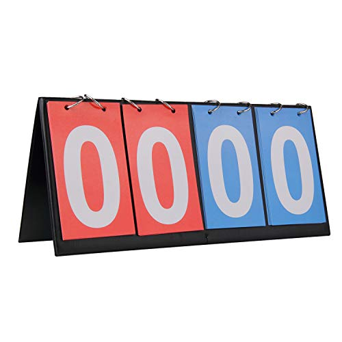 HRLORKC Scoreboard Score Keeper Score Flipper for Basketball Tennis Sports