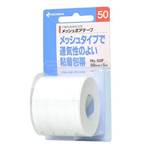 ニチバン粘着包帯メッシュポアテープ50mm幅5m巻き1巻