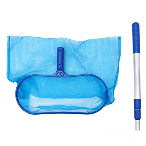 BESTonZON Kiddie - Rastrillo de natación y natación con hoja de skimmer Neto con barra telescópica para la limpieza de spa, bañera de hidromasaje, piscina fuera de tierra hinchable