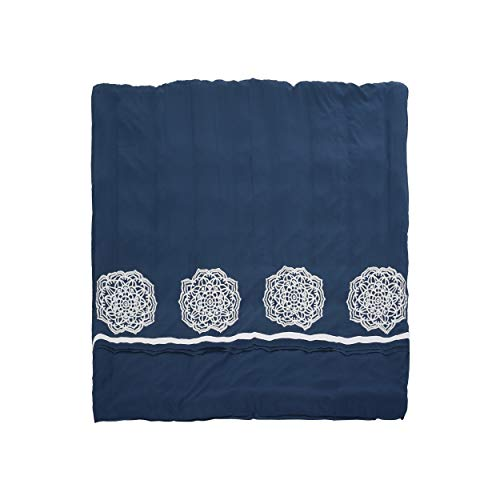 Christopher Knight Home 309042 Liliana Queen Size Fabric Duvet, Navy