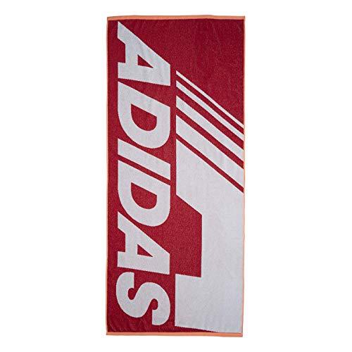 adidas Unisex– Erwachsene Beach Handtuch, Active Maroon, One Size