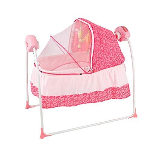 ZWQ kids 3-in-1 Smart elektrische Krippe, Baby Leibwächter und Schaukelstuhl Neugeborene Wiege Shaker Baby Schaukel Stuhl Hängematte, für 0 Monat +,A