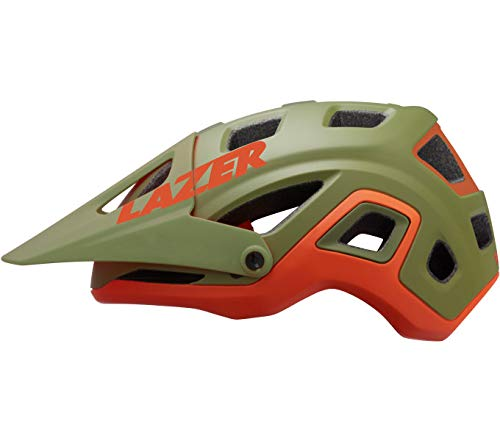 Lazer Casco Impala (S) Ciclismo, Adulti Unisex, Khaki/Arancione (Multicolore)