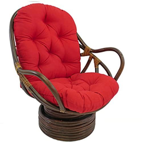 EXQULEG Cojín de respaldo bajo, 120 x 60 cm, cojín para silla, cojín de jardín, cojín de respaldo acolchado (rojo)