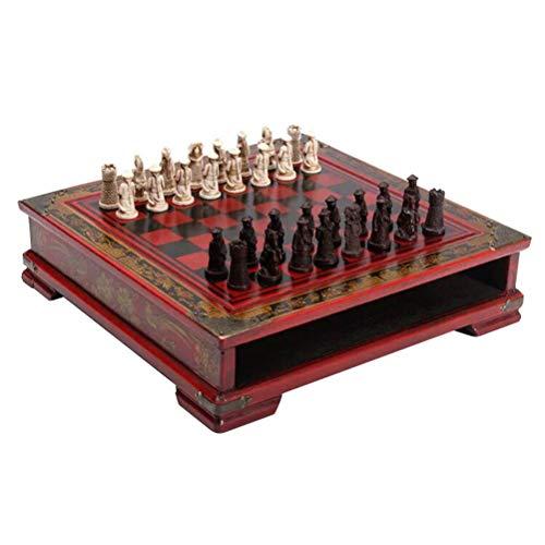 Toyvian Schach Set mit Schachfiguren Chinesisch Stil Soldaten Figuren Kinder Erwachsene