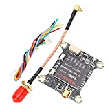 Transmisor de Video RC, 1.50x1.46in RC Drone 25/200/400/600mW Tablero transmisor de Video conmutable con Antena para FPV