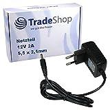 Trade-Shop 12V 2A 5,5x2,1mm Universal Netzteil 220V Stromadapter für TechnoTrend TT-Micro S302 HDMI C201 C202 C254 C264 TT Scart TV C102 TT-Micro C274