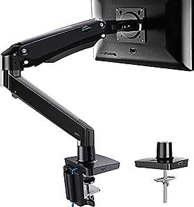 """HUANUO 17"""" - 35"""" Monitor Halterung für LED-LCD-Bildschirme, Voll Justierbarer Bildschirmhalterung mit USB-Kabeln, unterstützt VESA 75/100 mm & Gewicht bis zu 12 KG, 2 Montageoptionen"""