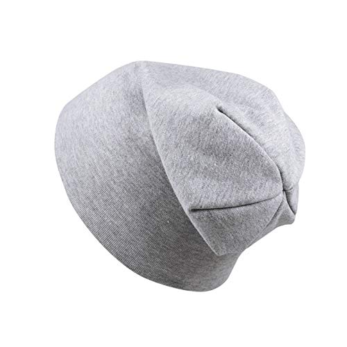 New Baby Street Dance Hip Hop Hat Spring Autumn Baby Hat Scarf for Boys Girls Knitted Cap Winter Warm Solid Color Children Hat-light grey hat-0 to 4 years