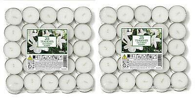 Price's Candles - Aladino Jasmine Scented Tea Lights 50 Pack - 021961D