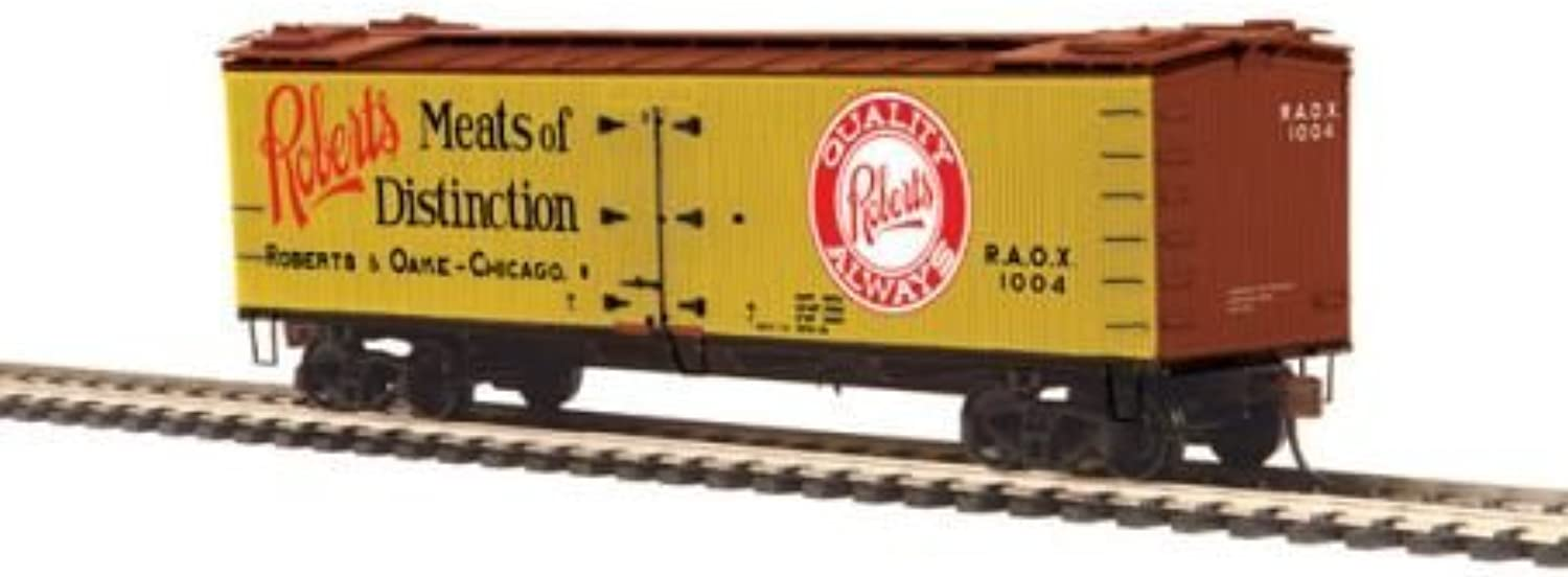 MTH 80-94052 HO Woodside Reefer Roberts & Oake Meats  1004 by MTH