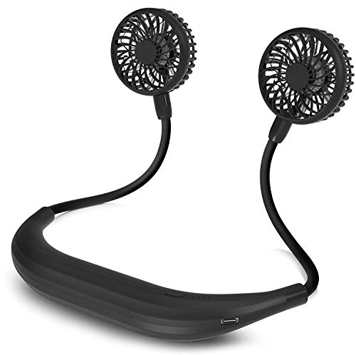 5200mah Neck Fan Portable Personal Fan Battery Powered 4 Speed Rotatable USB Fan for Work Home Office Travel Outdoor Sports