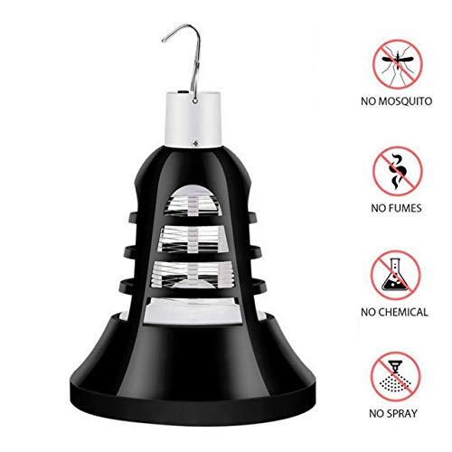 YS & VV LED USB Mosquito Killer muggenlamp gloeilamp elektrische vliegen morder voor huis keuken tuin terras veranda insectenvernietiger licht verlichting grootte: 10 * 10 * 13,7 cm (zwart) (2 stuks)