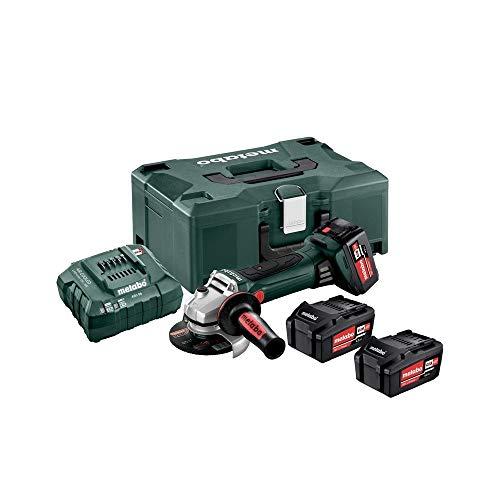 Metabo 602174960 accu-haakse slijper W 18 LTX 125 Quick, 18 V, groen-zwart-rood