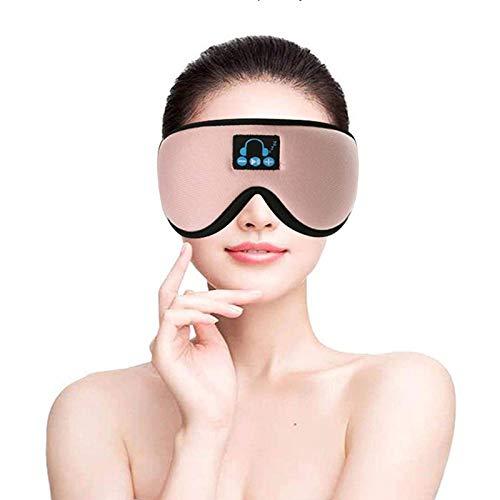 Drahtloses Bluetooth Musik Augenmaske 5.0, Einstellbares Und Waschbares 3d Bluetooth Schlafmaske Headset integrierter Lautsprecher Mikrofon (Color : Pink)