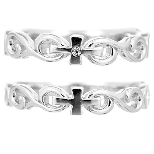 [ココカル]cococaru ペアリング プラチナ 結婚指輪 プラチナ Pt900 2本セット マリッジリング ダイヤモンド 日本製(レディースサイズ11号 メンズサイズ13号)