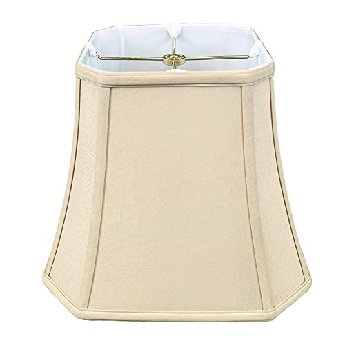 Royal Designs Square Bell Basic Lamp Shade - Multiple Colors (16 Inch, Beige)
