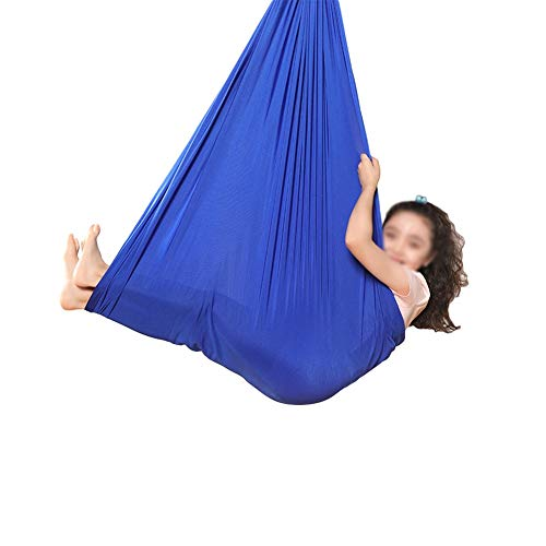 Review Of Therapy Swing for Kids, with Special Needs, Breathable Cuddle Hammock, Indoor Physical for Children, Autism, ADHD, Asperger's Syndrome (Color : Sapphire Blue, Size : 150x280cm/59x110in)