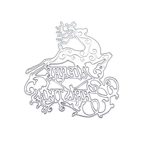 Metallschneideisen Weihnachten Stilvorlage Mold Handgemachte Elk Form Cutting-schablonen Für Papier Karten Pop-up