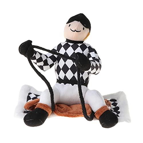 CIJK Divertido Disfraz De Caballo para Montar para Mascotas,Ropa De Jinete para Perros,Bonito Traje,Halloween,Navidad,Festival,Decoraciones para Fiestas,Cachorro,Cosplay,S-XL (Color : B, Size : L)
