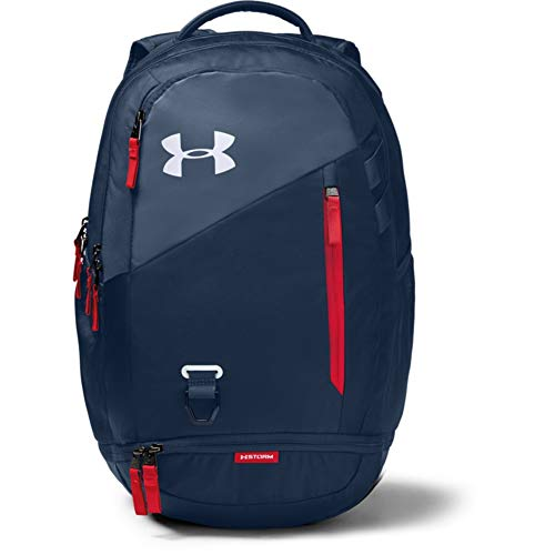 Under Armour UA Hustle 4.0: Mochila impermeable para portátil Azul Academy  409  Blanco