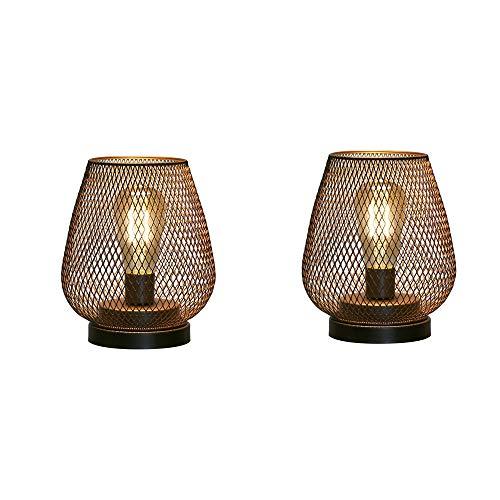 JHY DESIGN 二個セット デスクライト 現代電池式 LED ライト 間接照明卓上ライト 装飾 ベッドサイドランプ テーブルランプ 寝室和風屋内室外玄関 テーブル ガーデン パーティー (暖かい白)