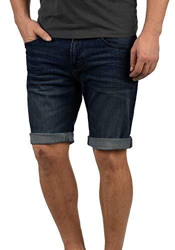 Indicode Indicode Quentin Herren Jeans Shorts Kurze Denim Hose Mit Destroyed-Optik Aus Stretch-Material Regular Fit, Größe:S, Farbe:Dark Blue (855)