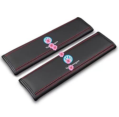 Adecuado para Todo Tipo de Logotipo de Coche, Kit de Funda de cojín de cinturón de Seguridad de Coche, Juego de 2 Piezas de cómodo cinturón de Seguridad para el Hombro