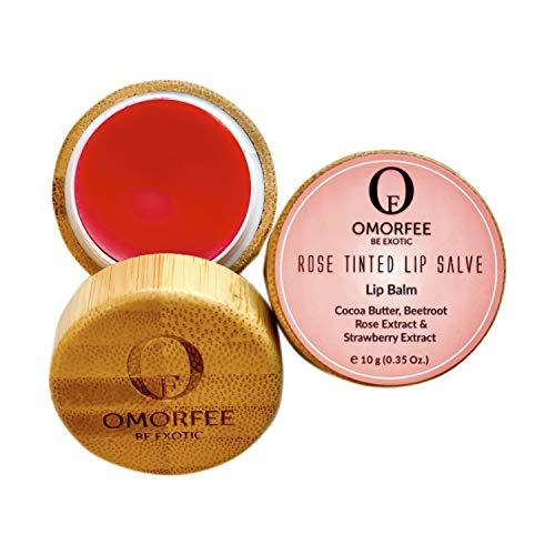 Omorfee 100% Organic Tinted and Moisturizing Lip Balm Treatment Strawberry