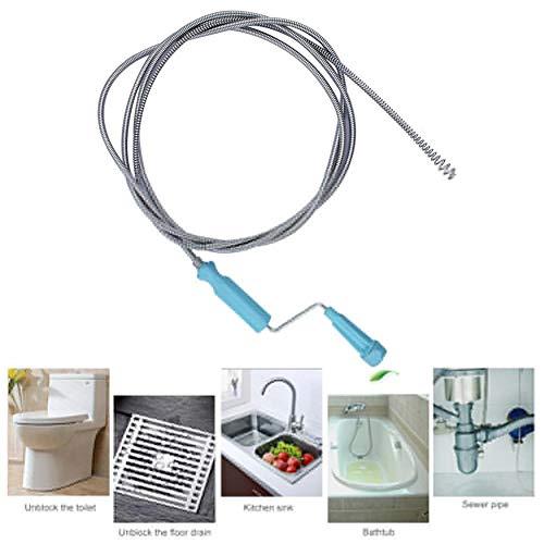 Chowaway Rohrreinigungsspirale, Abflussreinigungsspirale Mit Bohrspitze Für Abfluss Und Siphon, Dusche, Waschbecken, Bad.