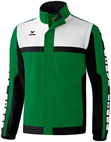 Erima Herren Classic 5-C Sportsjacke, smaragd/schwarz/weiß, L