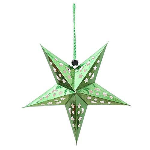 XNBCD kerstdecoratie 30/45/60 cm kleurrijke kerstboom pentagram plafond hangende lampenkap