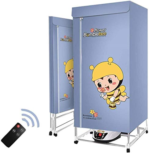 YUIOLIL Portable Clothes Dryer,Clothing Heater Dryers,2 Tier Foldable Warm Air Wardrobe Low Energy Consumption Intelligent Timing Quick Drying and Heating