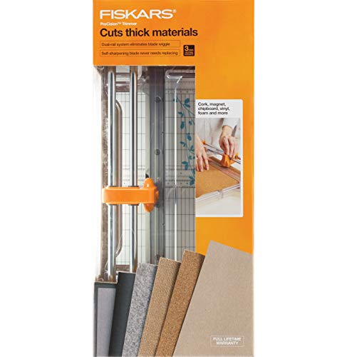 Fiskars Procision Rotary Bypass Trimmer, White/Grey