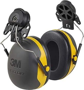3M PELTOR Ear Muffs Noise Protection Hard Hat Attachment NRR 24 dB Construction Manufacturing Maintenance Automotive Woodworking X2P3E
