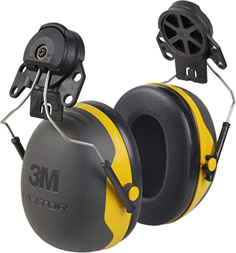 3M - 93045937292 PELTOR Ear Muffs, Noise Protection, Hard Hat Attachment, NRR 24 dB, Construction, Manufacturing, Maintenance, Automotive, Woodworking, X2P3E