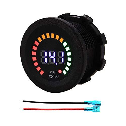 WY-YAN Pantalla voltímetro digital probador LED CC 12V del barco del coche de la motocicleta LED Panel digital de voltaje del metro de voltio del voltímetro Preciso