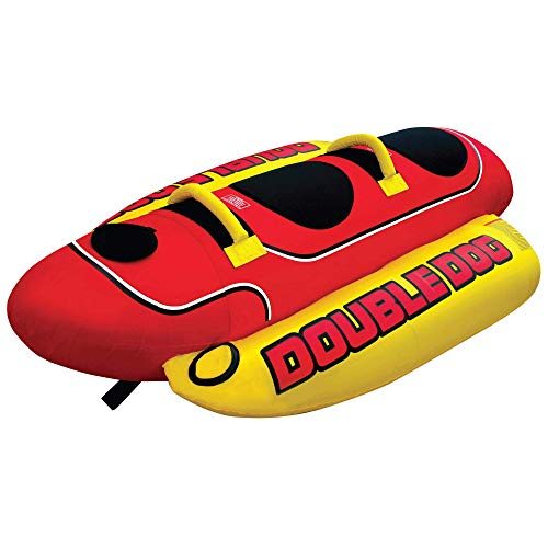 Airhead Double Dog | 1-2 Rider Towable Tube for Boating, Multi, One Size