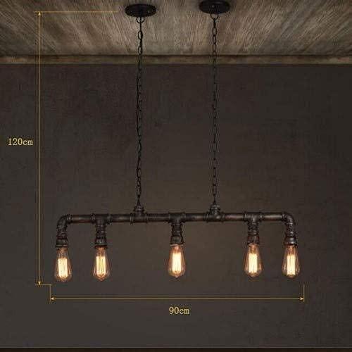 LLLKKK Steampunk Industrial Vintage - Lámpara de techo, diseño retro clásico personalizado