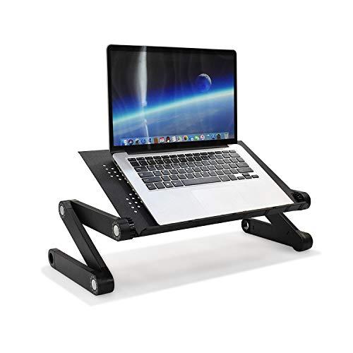 hjh OFFICE 802117 Laptop Stand VM-SA II Aluminium Laptop Holder 360° Foldable Laptop Raiser Pad Ergonomic