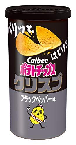 カルビー ポテトチップスクリスプ ブラックペッパー味 50g ×12個