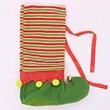 WZhen Patrón De Medias Navidad Decorativa Vino Botella Cubierta - Verde